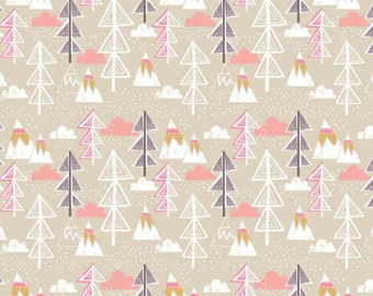 Blend Fabrics - Snow Day - Artic Tree - Taupe