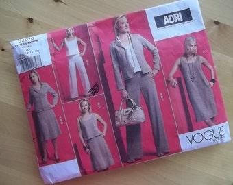 Vogue 2976 Sewing Pattern - Adri - Misses/Misses Petite Jacket, Top, Dress, Skirt and Pants - Size 6-14
