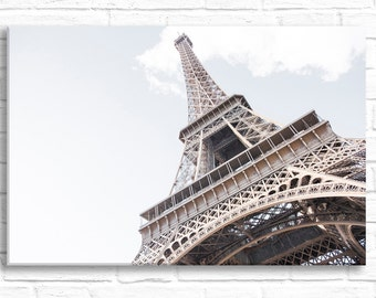 Paris Photograph on Canvas - The Icon, Eiffel Tower Gallery Wrapped Canvas, Architecture Urban Decor, Large Wall Art