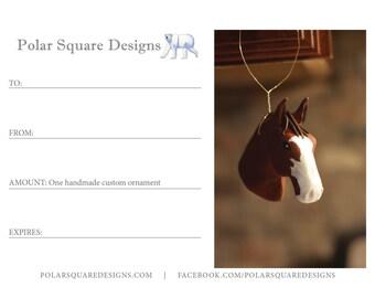 Gift Certificate for a Handmade Custom Pet Ornament
