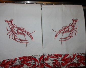 Lobster Kitchen Towels Set