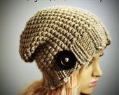 Loom Knitting Pattern French Elegance Slouchy Hat