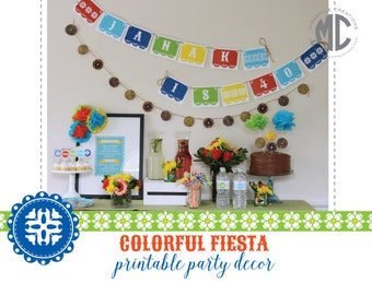 PRINTABLE PARTY COLLECTION - Fiesta Party - Mirabelle Creations