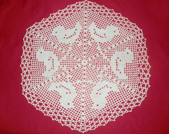 Baby Chickens Doily