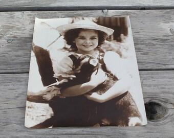 Vintage Original Shirley Temple & Goat 1937 Film Heidi Photo Print