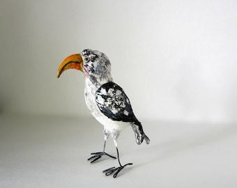 Bird Sculpture - Yellow Hornbill - FREE Shipping