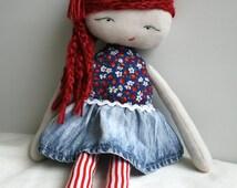 Sewing Pattern, rag doll sewing pattern strawberry picker doll pattern stuffed toy pattern cloth doll pattern (05) INSTANT DOWNLOAD