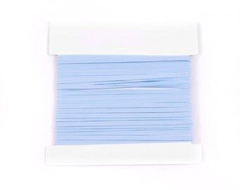 Elastic, 1/8th inch flat elastic for DIY Making Baby Headbands, skinny elastic - 5, 10, or 20 yard bundles -LIGHT BLUE