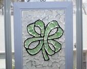 Small Shamrock Sea Glass Mosaic