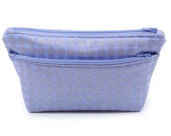 Small Purple Pouch Cosmetic Travel Bag