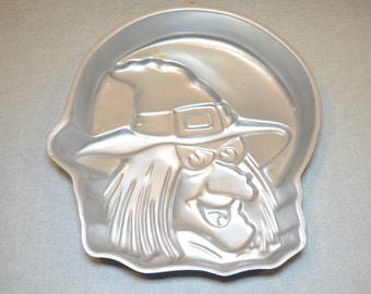 Vintage 1990 Halloween Witch and Thanksgiving Pilgrim Cake Pan by Wilton - 2105-4590 - RETIRED - With Cookbook and Insert