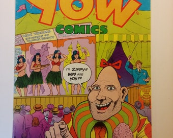 1978 YOW COMICS No. 1, 1.25 cover price, Last Gasp Comics, Adult, Underground Comic - Zippy The Pinhead, 8.5+ some cover wear