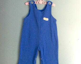 Vintage polyester abc Overalls 12 to 18 months