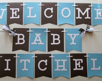 Its a girl banner for baby shower or decoration in pink white for Welcome home baby shower decorations