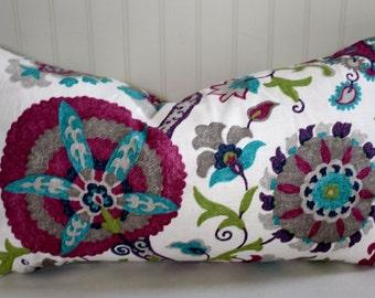 Suzanni Ladbroke Geranium Pillow Cover in  Designer Fabric
