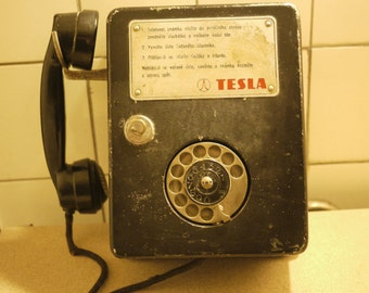 Rare antique telephone payphone