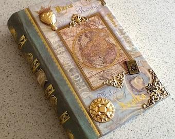 World Traveler/Explorer Secret Faux Book Box 2