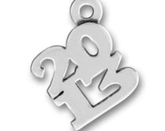 Year 2013 Charm - Sterling Silver