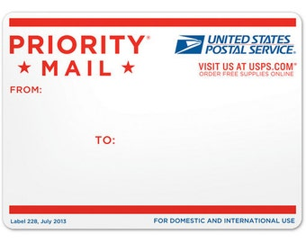 U.S domestic - Upgrade shipping for faster delivery with USPS Priority Mail
