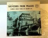 Vintage LP Vinyl Souvenirs From Prague Famous Czech Tunes of Golden 30's Rare Record Czechoslovakian Vocals Apon Record 2481 RARE