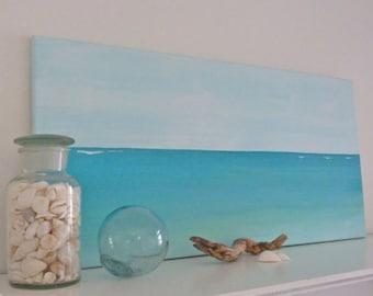beach painting , beach decor , original beach art , minimalist seascape , beach house decor , beachcomber coastal decor