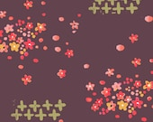 Haiku - Scattered Petals - Organic Cotton - Monaluna Fabrics - 1/2 Yard