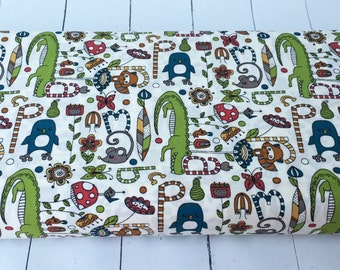 Picnic Whimsy - Alphabet Soup - Birch Fabrics - 722-T - 1/2 Yard