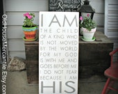 I Am His - Easter - Scripture - Inspirational - Child of the King - Christian Art