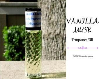 VANILLA MUSK Fragrance Body Oil 1/3, 1/2, or 1 ounce (oz)