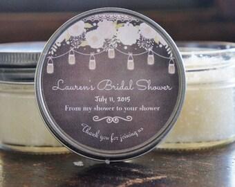 Set of 12 - 4 oz- Baby Shower Sugar Scrub Favor//Bridal Shower Favor//Chalkboard Favor//Mason Jar Favor//Girl Baby Shower//Boy Baby Shower