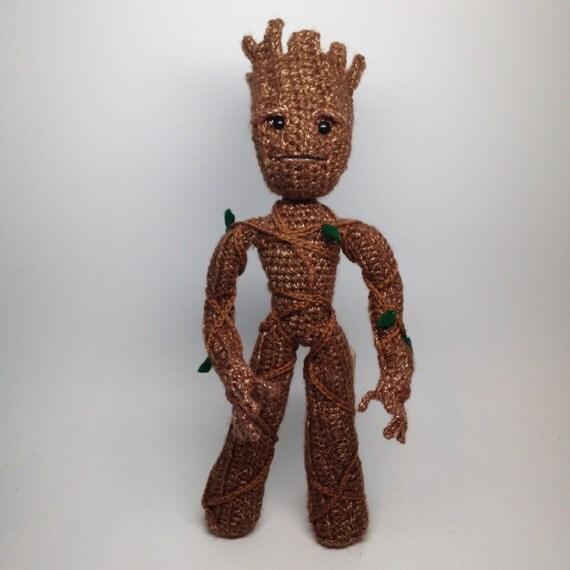 Amigurumi Patterns Groot : Groot inspired tree superhero doll crochet amigurumi