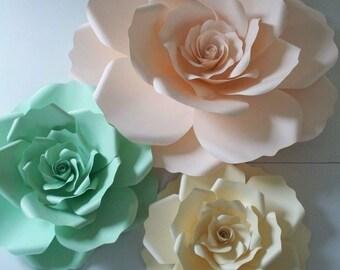 Nursery Flowers,Nursery Paper Flowers, Nursery Backdrop,Nursery Decor,Large Paper Flower,Wedding Backdrop,Paper Flower,Pink Paper Rose