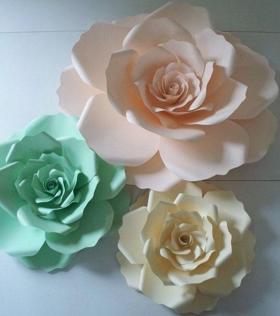 paper flower backdropnursery wall flowersnursery. Black Bedroom Furniture Sets. Home Design Ideas