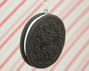 big oreo necklace kawaii polymer clay charms miniature food jewelry polymer clay food necklace oreo cookie necklace oreo charm actual size