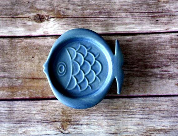 Ring Holder, Jewelry Holder - Handmade Fish Ring Dish - Midcentury Modern Fish Coaster, MCM Fish - Mid Mod Decor - 1960's style - vintage