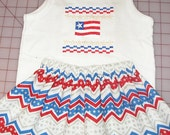 American Flag Toddler Outfit