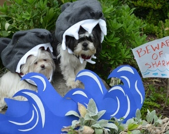 Custom Made Shark Halloween Dog Costume can be made to fit! Everyone loves SHARK WEEK!