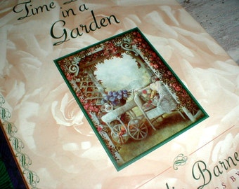 Time Began In A Garden By Emilie Barnes Paintings By Glynda Turley *Charming Book*