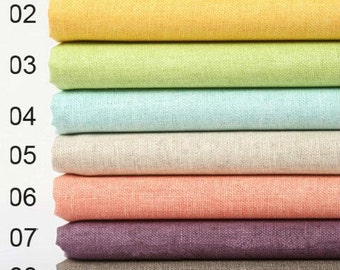 Solid Linen Fabric Pure Linen, clothing fabric,wax fabric,vertical and resistance to dirty -1/2 yard QT471