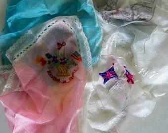 Instant collection of vintage Silk Handkerchiefs
