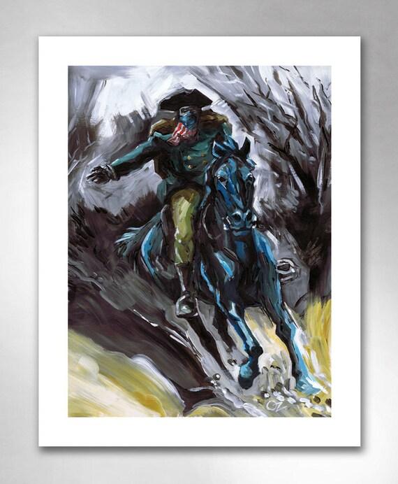 PAUL REVERE, Ready To Ride American Art Print 11x14 by Rob Ozborne