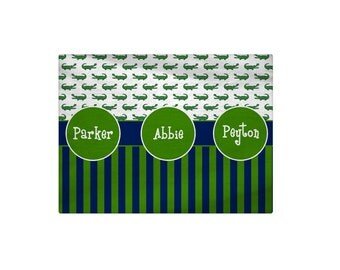 Personalized Preppy Gator Bath Mat