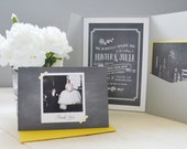 Chalkboard invitation set
