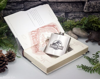 Hollow Book Safe & Hip Flask - The Lost World