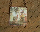 Egypt necklace Egyptian Osiris and Atum jewelry Ancient Egypt Isis jewelry mixed media jewelry