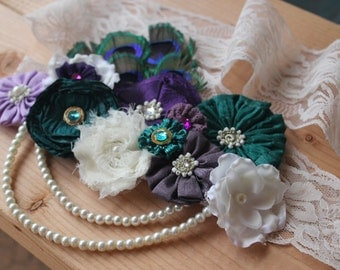 Maternity Sash, Belly Bouquet, Belly Sash, Maternity Photo Prop