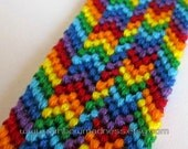rainbow bracelet with shaped ends