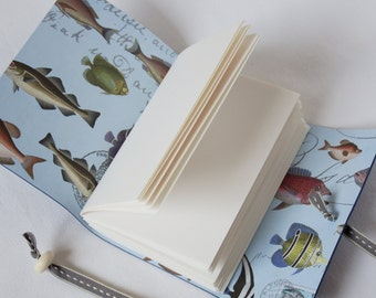 Fish Journal, Fishing Gift, Fisherman Gift, Fishing Record, Fishing Journal, Anglers Gift, Fish Notebook, blue Leather Journal,