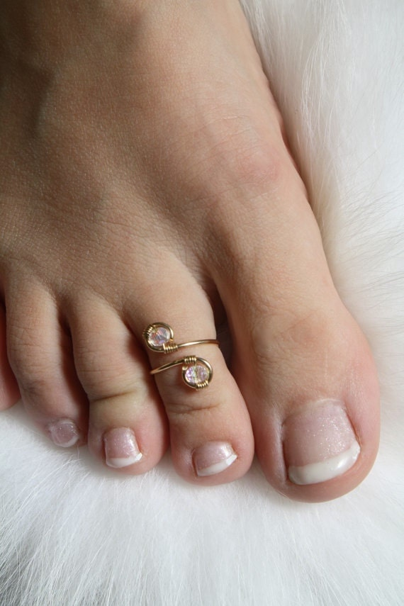 K Gold Toe Rings India