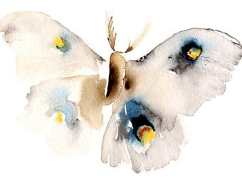 Blank Greeting Card Moth Art Card